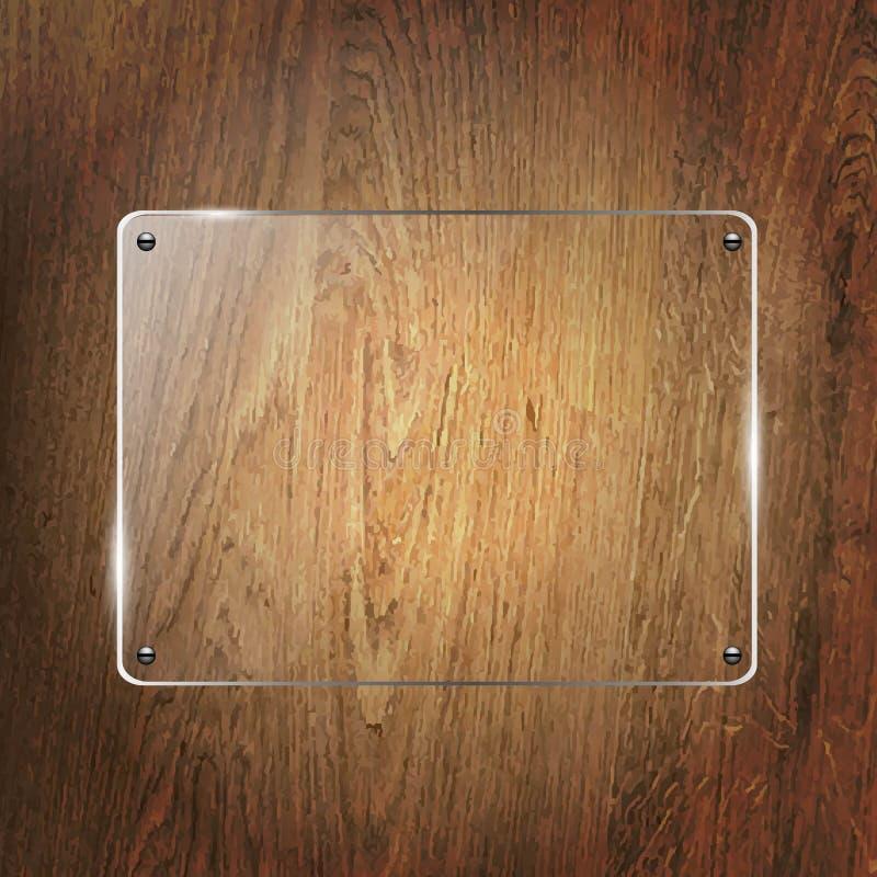 Download Glass Shelf On Wood Background Stock Photo - Image: 33342220