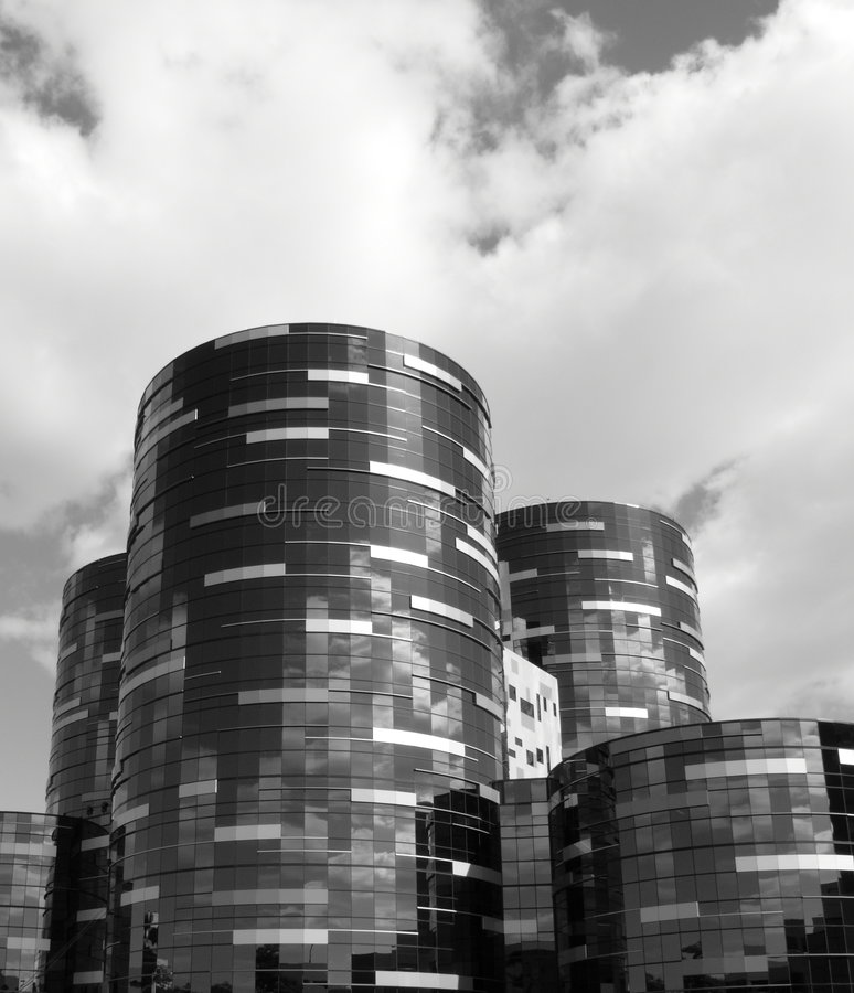 glass sjukhustorn för byggnad arkivbilder