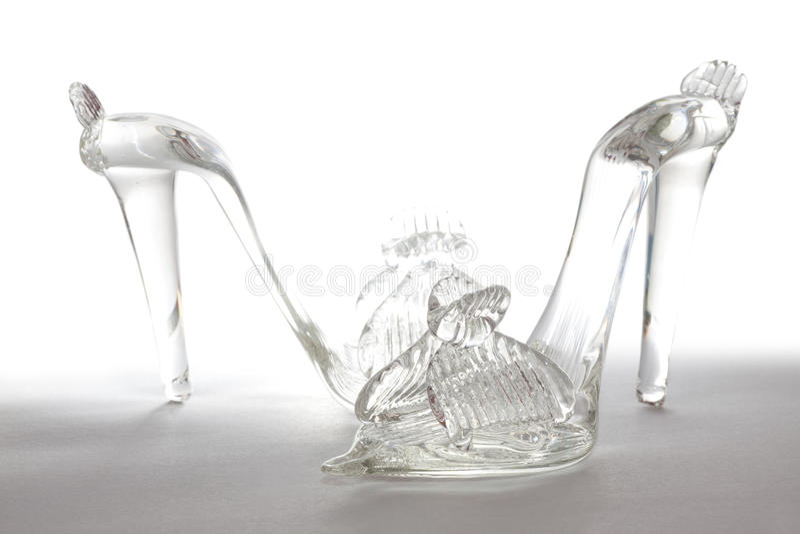glass skor royaltyfri foto