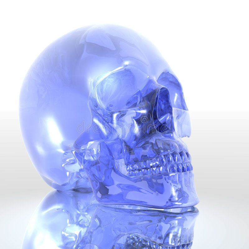 Download Glass skull stock illustration. Image of illumined, part - 6494214