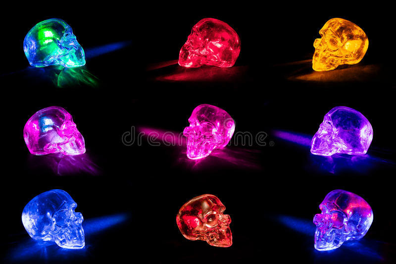 Glass skulls stock photography