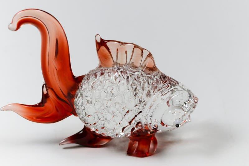 Glass skulptur för fisk för garnering royaltyfri foto
