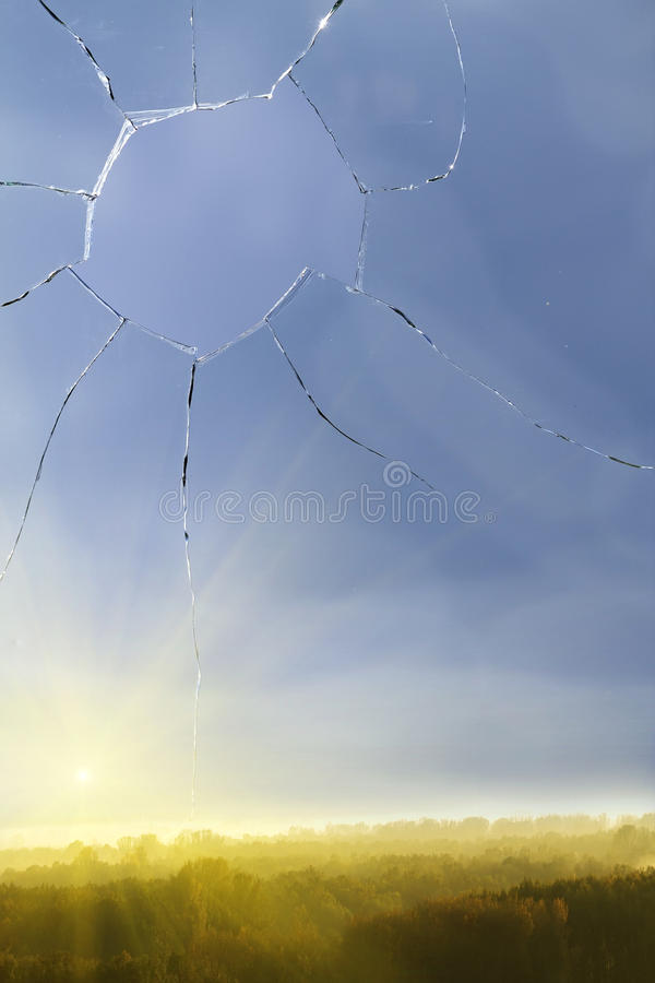 Glass sky clouds broken sunrise stock photography