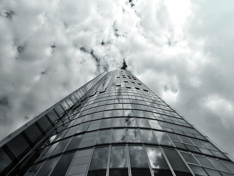 Glass skyscraper royalty free stock image