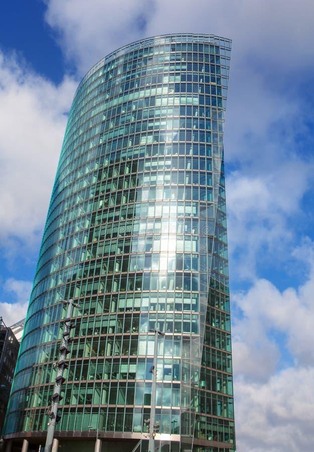 Glass skyscraper. Modern glass skyscraper in Berlin stock photo
