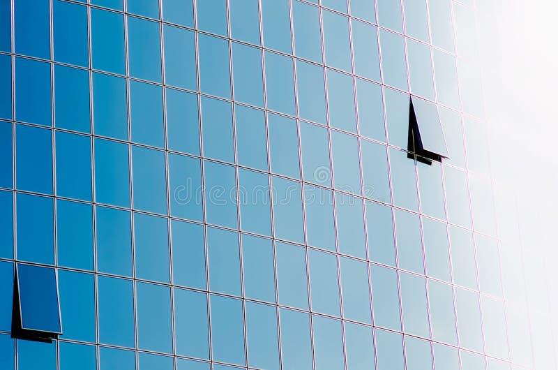 Glass skyscraper windows royalty free stock photos