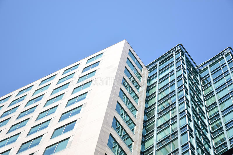 The glass skyscrapper. Reflecting the clouds in Ottawa downtown royalty free stock photography