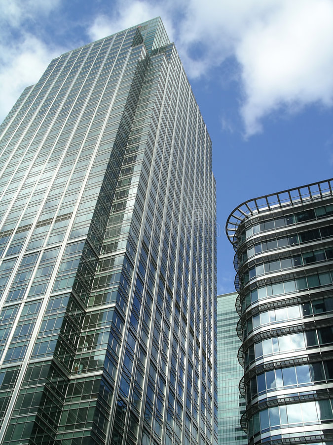 glass skyskrapa royaltyfri bild