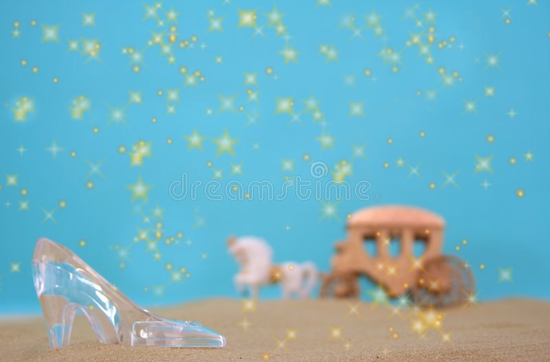 Download Glass Slipper stock photo. Image of border, blue, fairytale - 1477944