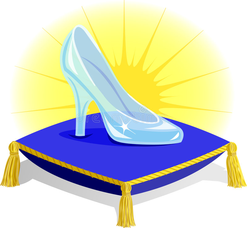 Free Glass Slipper On Pillow/eps Stock Image - 7826371