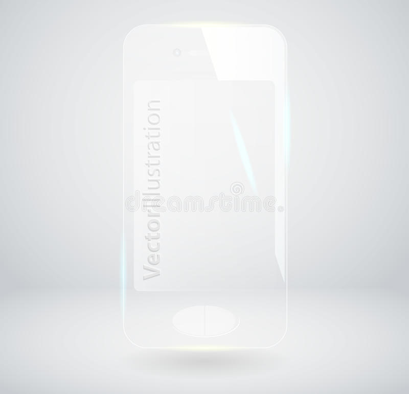 Glass Smart Phone Royalty Free Stock Image
