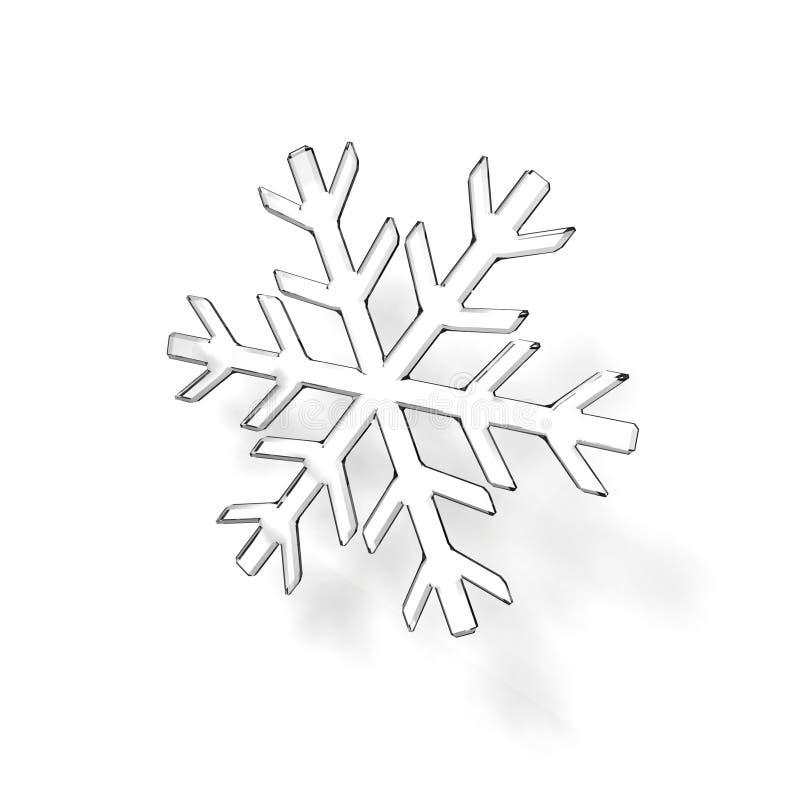 Glass snowflake stock photo