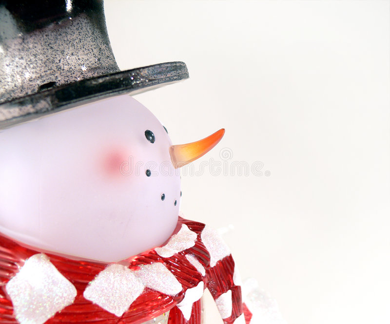 glass snowman royaltyfri foto