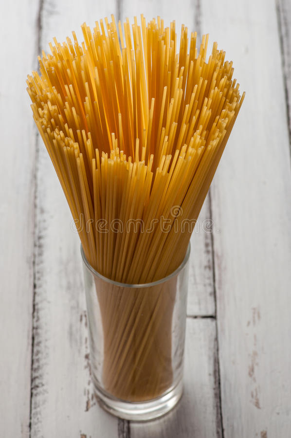 Download Glass With Some Dry Spaghetti Stock Image - Image: 32746965