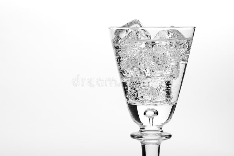 Glass of sparkling water royalty free stock image