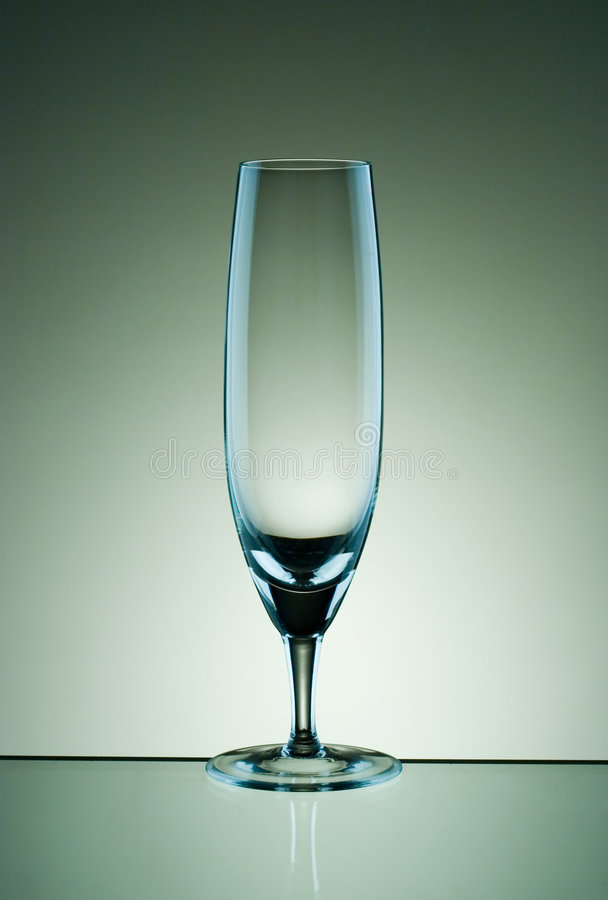 Glass for sparkling wine stock image