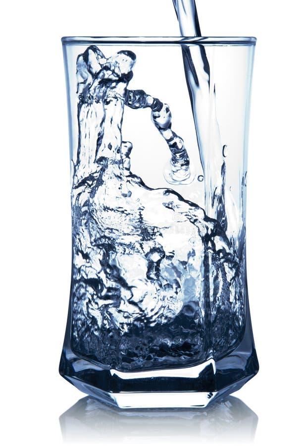glass spashvatten arkivbilder