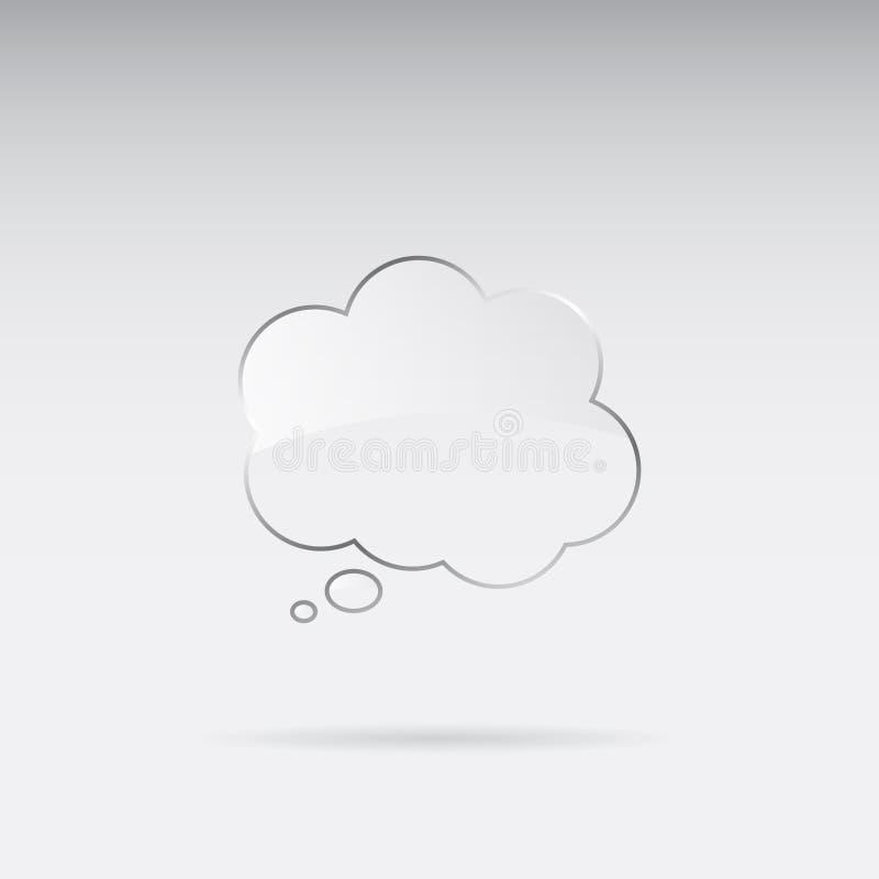 Glass speech bubble royalty free illustration