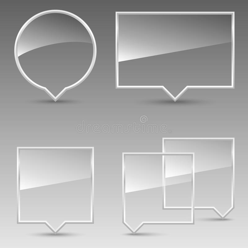 Glass Speech Bubbles vector illustration