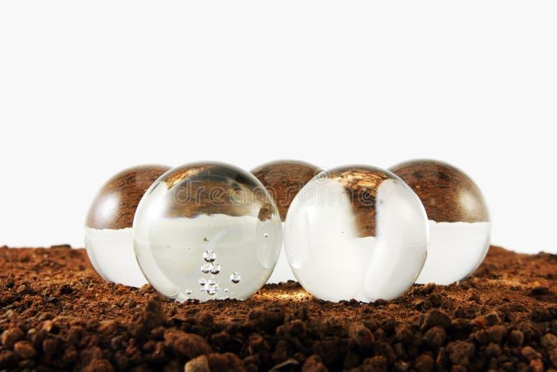glass sphere arkivfoto