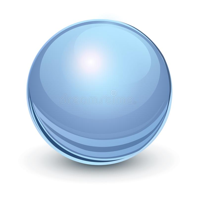 Glass sphere blue vector illustration