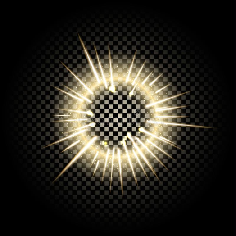 Glass sphere of glowing lights effects isolated on transparent background. vector illustration