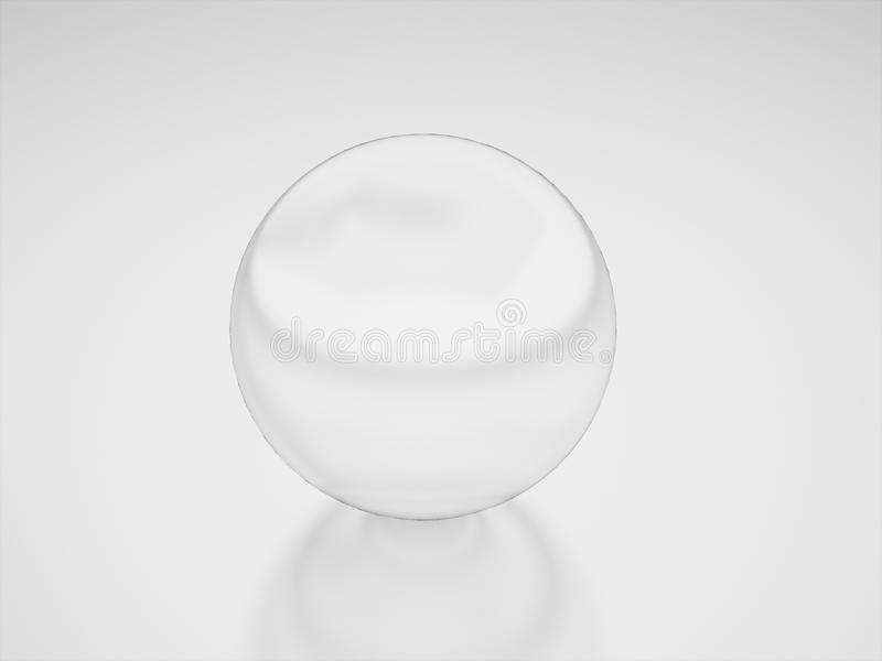 Glass sphere rendered. Glass sphere business concept rendered royalty free stock photos