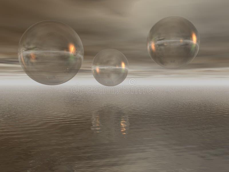 glass spheres royaltyfria foton