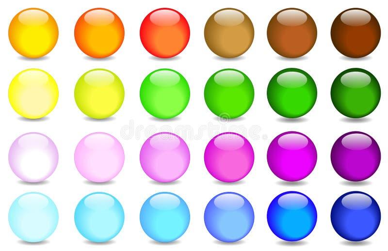 glass spheres stock illustrationer