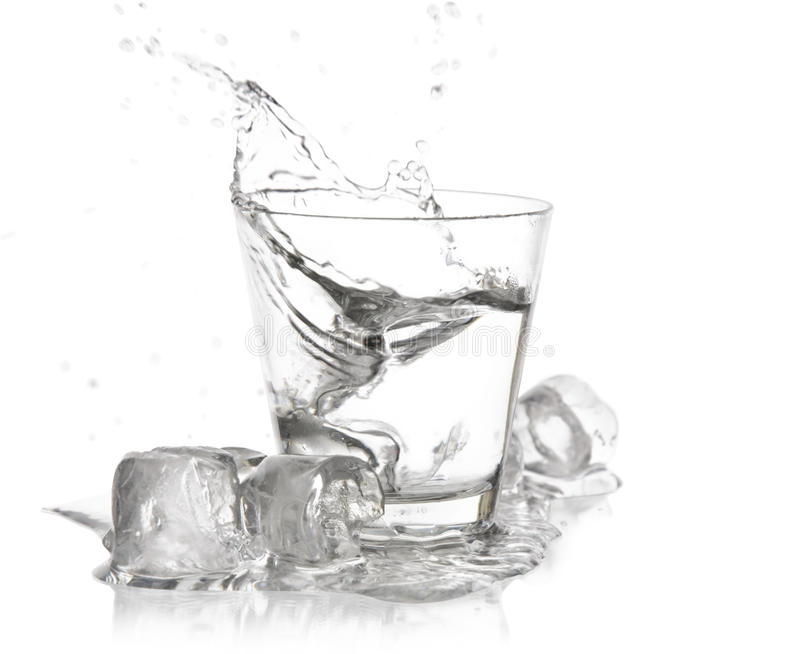 Glass with splash stock photos