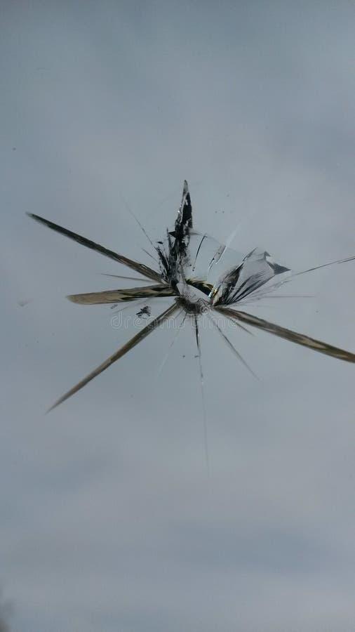 Glass spricka arkivfoton