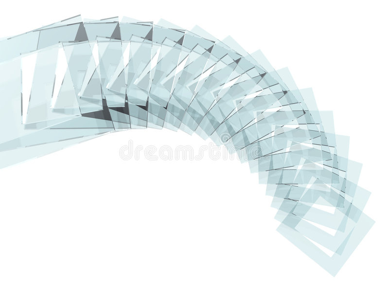 Glass squares spiral stock images
