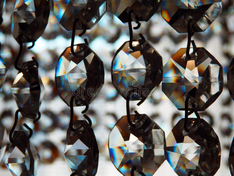 Glass srystals detail stock photo