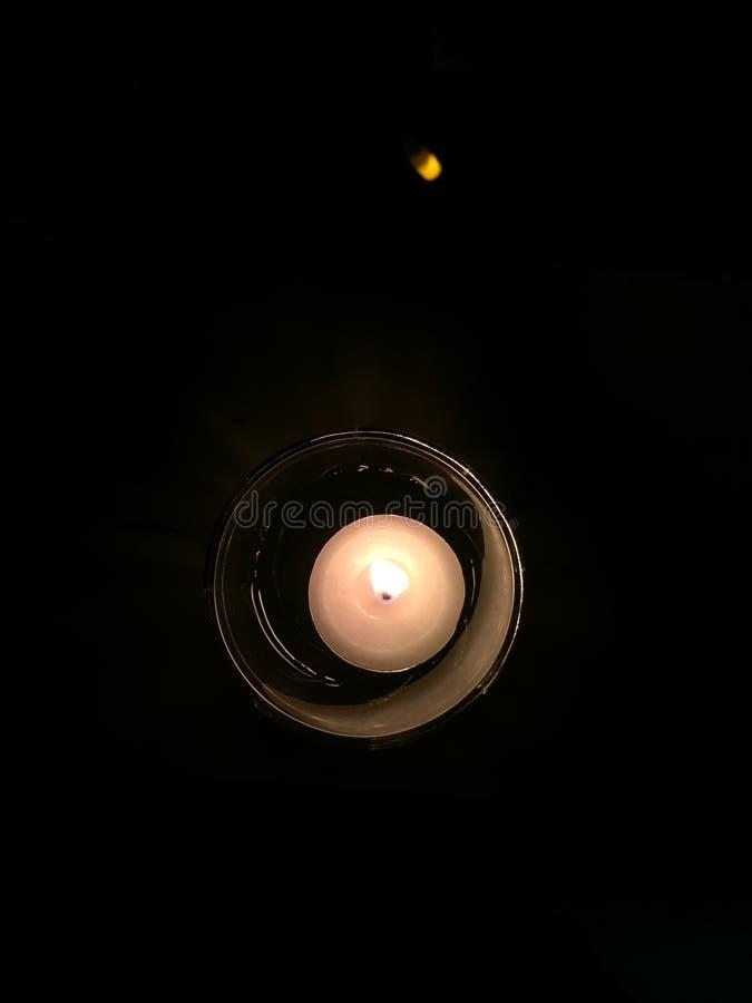 Glass stearinljus arkivfoton