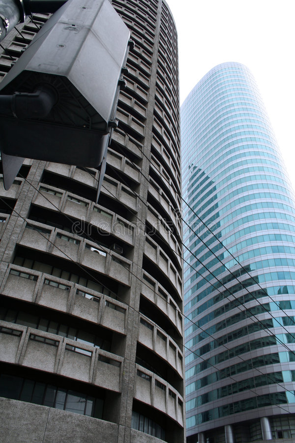 Glass and steel manila high rise offices. Different styles of architecture in makati city in manila royalty free stock photo