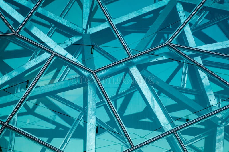 Glass and steel wall stock photography
