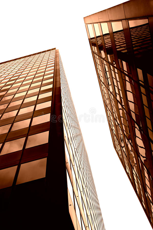 Glass and stell skyscraper in london. Isolated on white royalty free stock photo