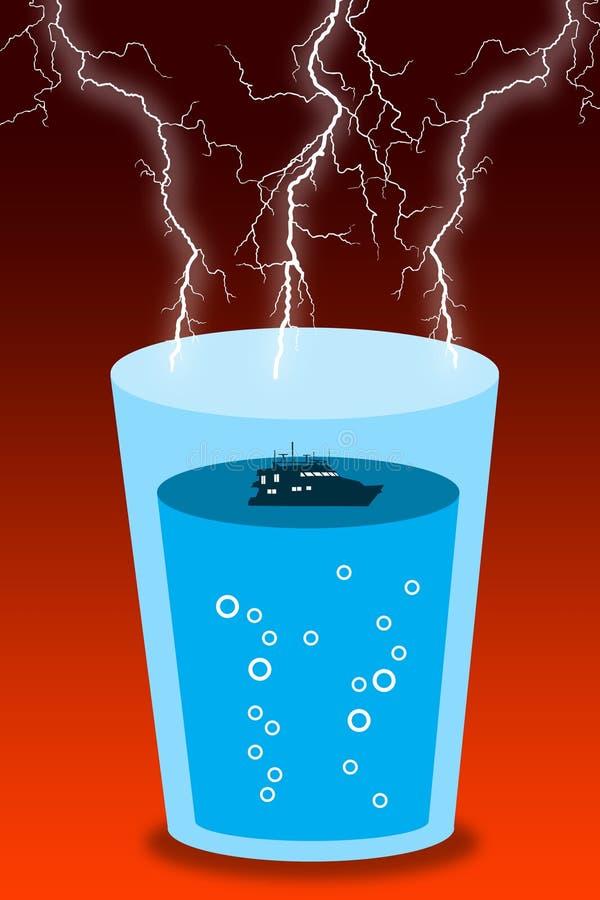 Glass storm stock illustrationer
