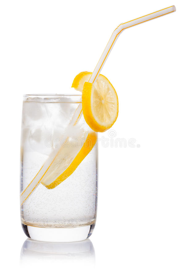 Glass with straw stock images