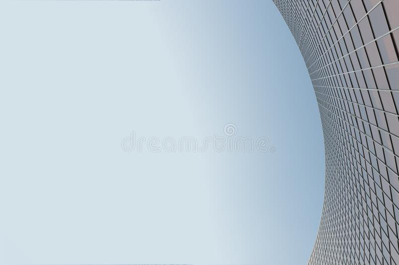Glass surface of skyscrapers view stock photo
