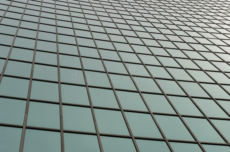 Glass surface of skyscrapers view royalty free stock image