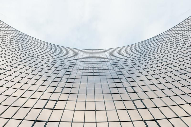 Glass surface of skyscrapers view stock image