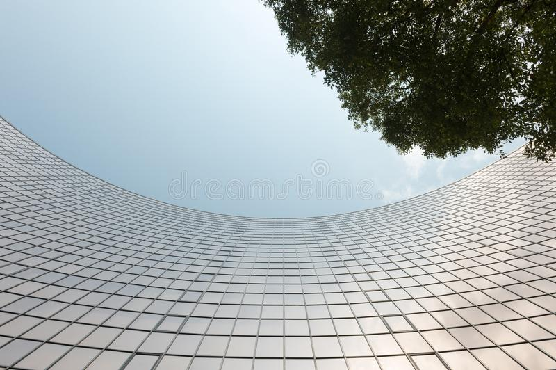 Glass surface of skyscrapers view royalty free stock photo