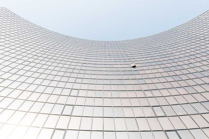 Glass surface of skyscrapers view royalty free stock photography