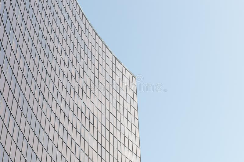 Glass surface of skyscrapers view royalty free stock photos