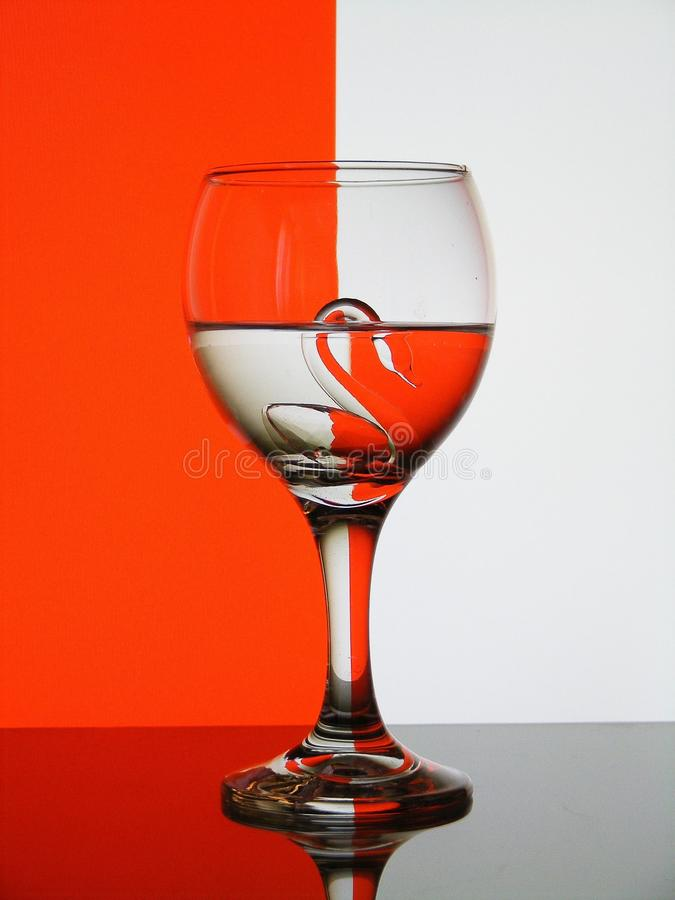 Download Glass with swan stock photo. Image of background, empty - 25721546