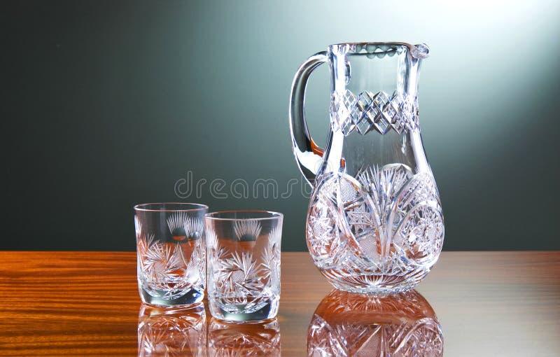 glass tabell royaltyfri fotografi