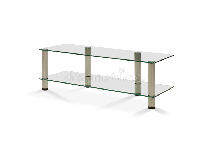 Glass table stock photography