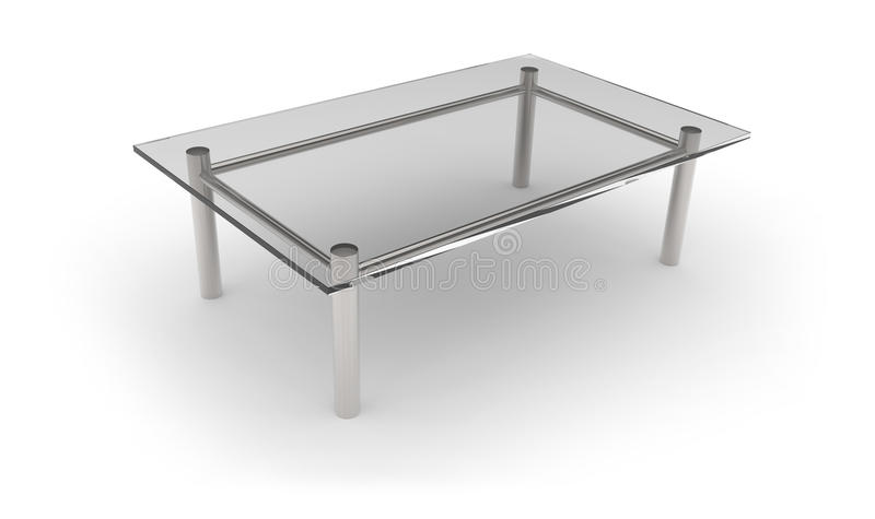 Download Glass table stock illustration. Illustration of isolated - 33424764