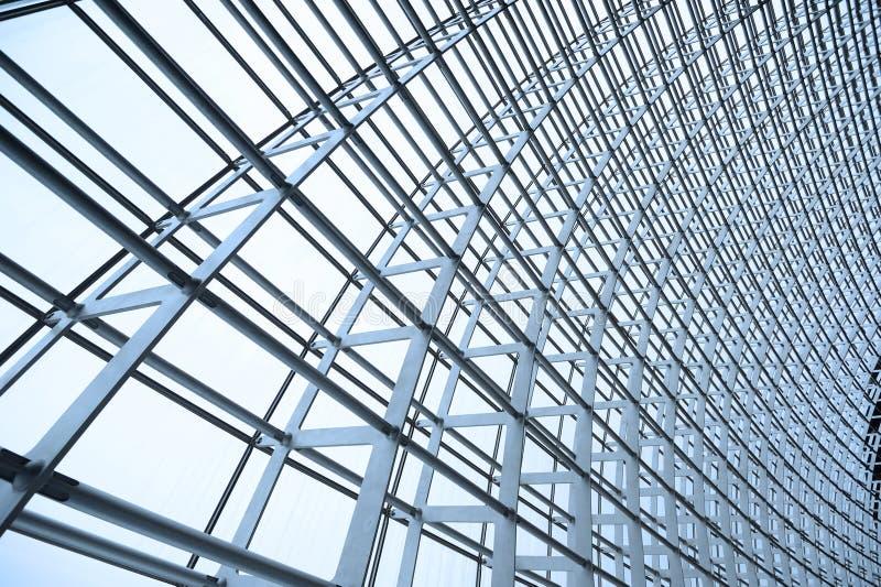 glass takstålstruktur arkivfoto